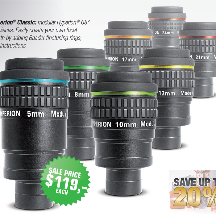 Save up to 20% on Baader Hyperion Eyepieces
