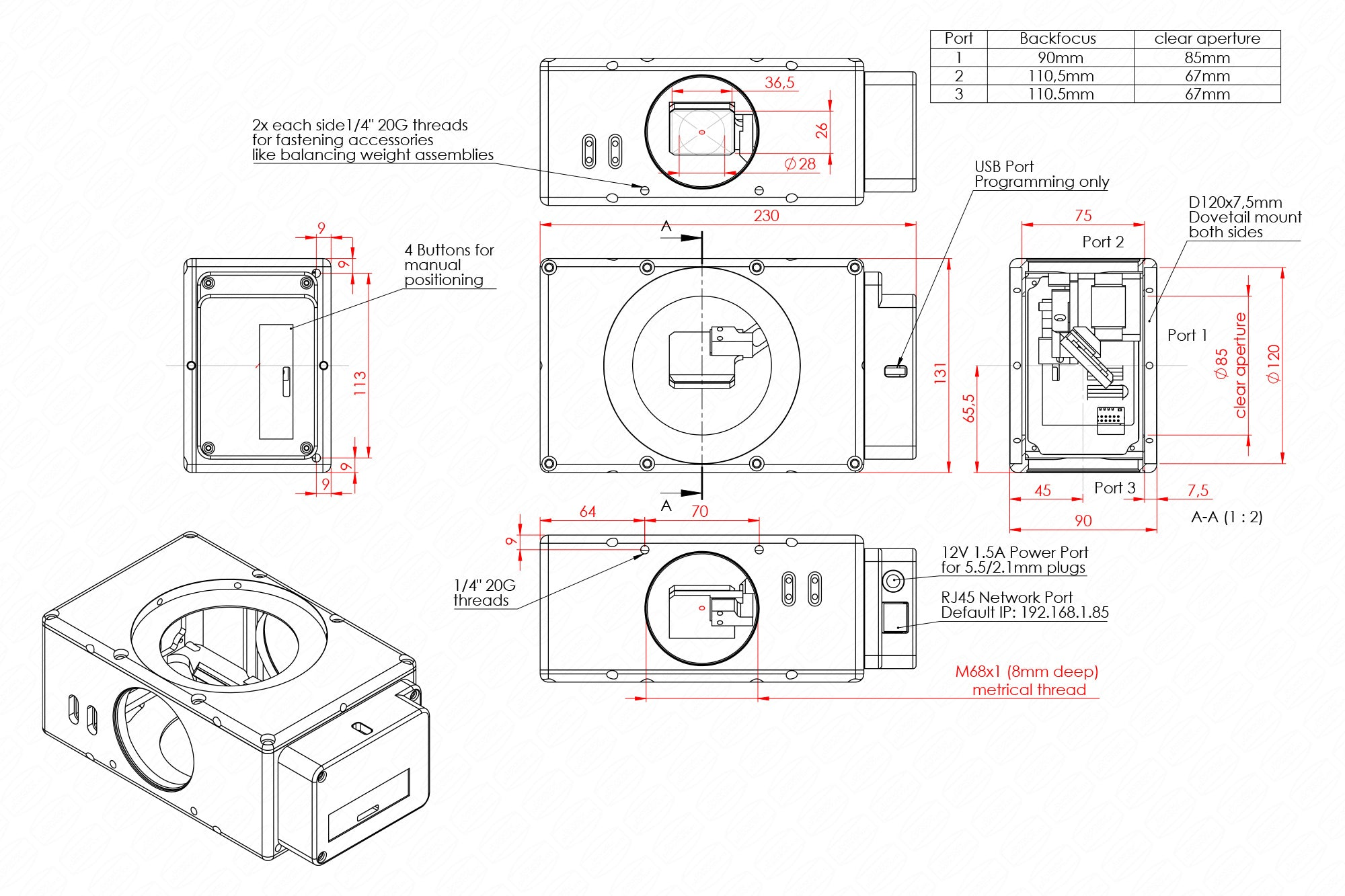 IMP85 Technical Drawing