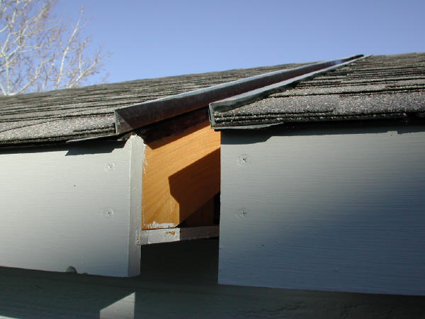 Flashing, Roofs Separated
