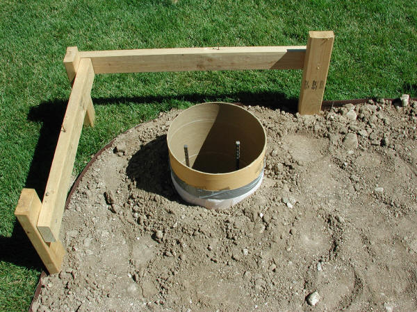 Floor Footing, Form Tube and Rebar in Place