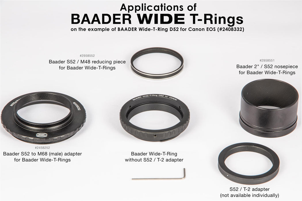 Baader Wide-T-Ring Fujifilm X with D52i to T-2 and S52