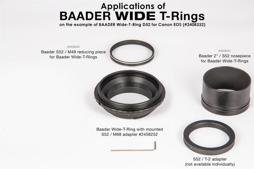 Baader Wide-T-Ring Canon R (for Canon R bajonet) with D52i to T-2 and S52