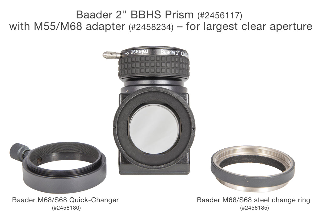"Baader 2"" BBHS ® Prism Star Diagonal Prism with 2"" ClickLock Clamp"