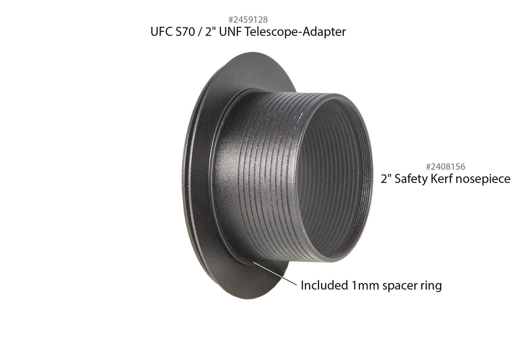 "Baader UFC S70 / 2"" SC-thread (int) Telescope-Adapter (optical height: 1 mm)"