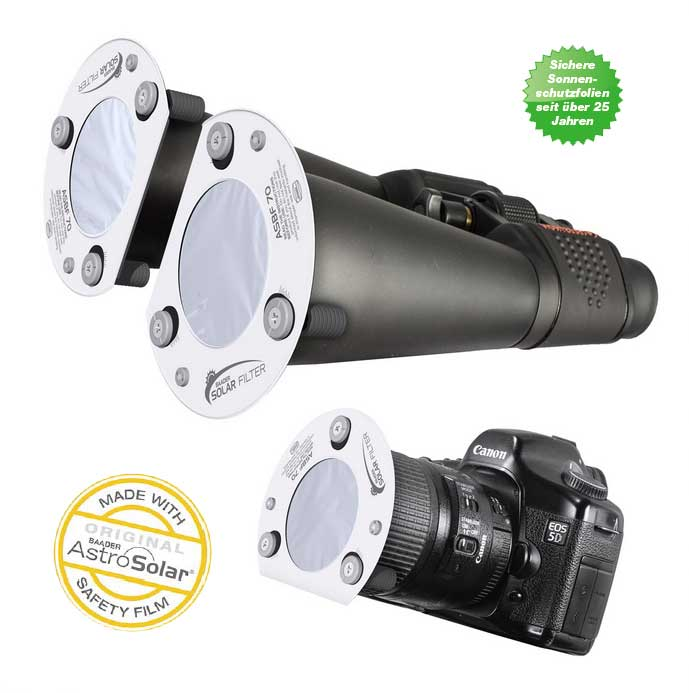 ASBF: AstroSolar Binocular Filter OD 5.0 (50mm - 100mm)