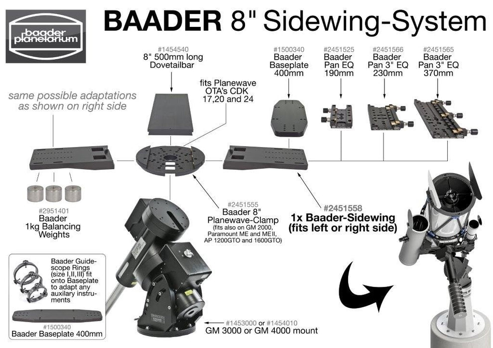 "Baader 8"" Planewave Clamp"