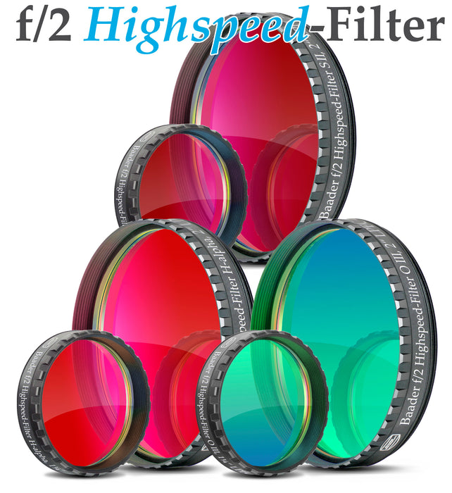 Baader f/2 Highspeed-Filters (H-alpha, O-III, S-II)