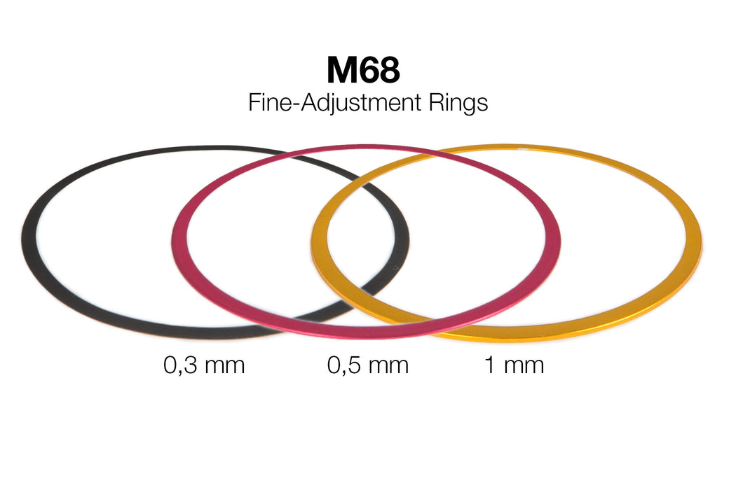 M68 Fine-Adjustment rings (0,3 / 0,5 / 1 mm) - Aluminium
