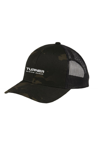 Black Camo Retro Trucker Cap