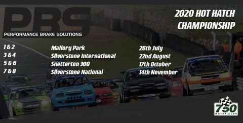 PBS Brakes new Title Sponsor of 750 motor club hot hatch championship