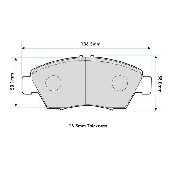 Honda Civic EK4 Front ProRace Performance Brake Pads 1286