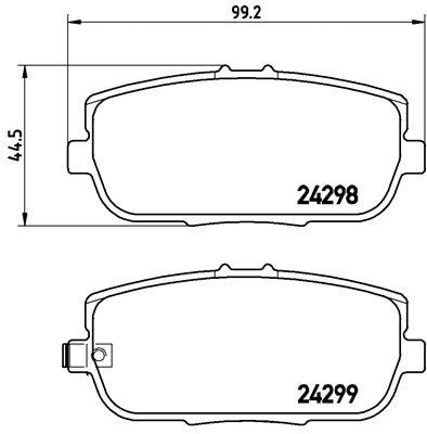 Mazda MX5 MK (NC) Race Brake Pads - 1.5 / 2.0 Rear ProTrack Pads  8614PT