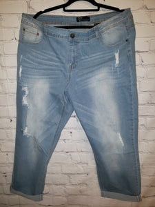 Distressed jeans Size 22
