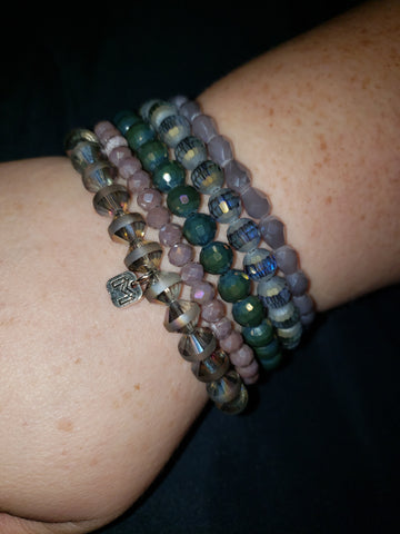 402 Cactus Flower Bracelet Set