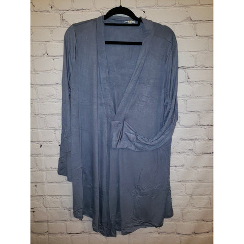 Drapey Open Front Long Sleeve Cardigan