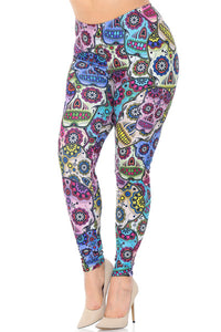 Pastel Small Sugar Skull Leggings