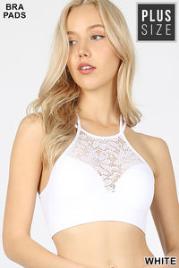 116 White lace bralette
