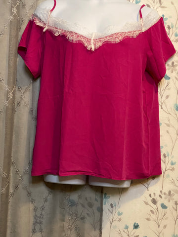 Pink Strapped Cold Shoulder (not curvy)