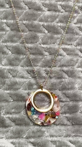 "22 Round Resin 24"" Necklace"