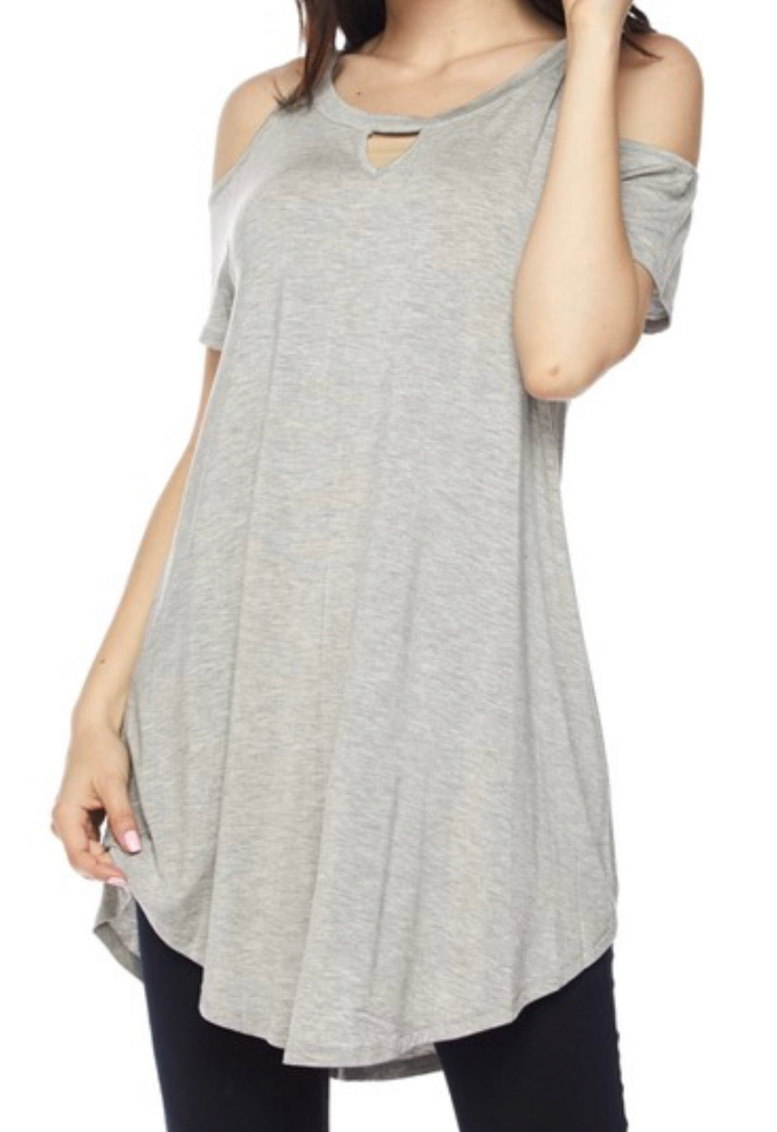 140 Gray Cold Shoulder