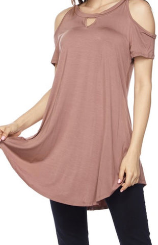 139 Dark Mauve Cold Shoulder