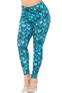 Mermaid Leggings 1x