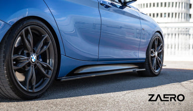Zaero Design EVO-1 Gloss Black Side Skirts for BMW 1 Series (PRE-LCI 2011-2015, F20 F21)
