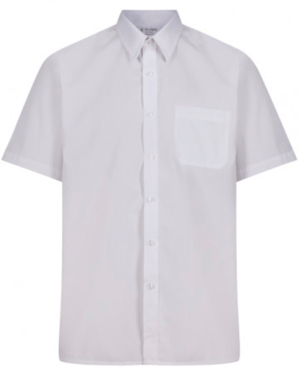 1 Pack Boys White Short Sleeve Shirt