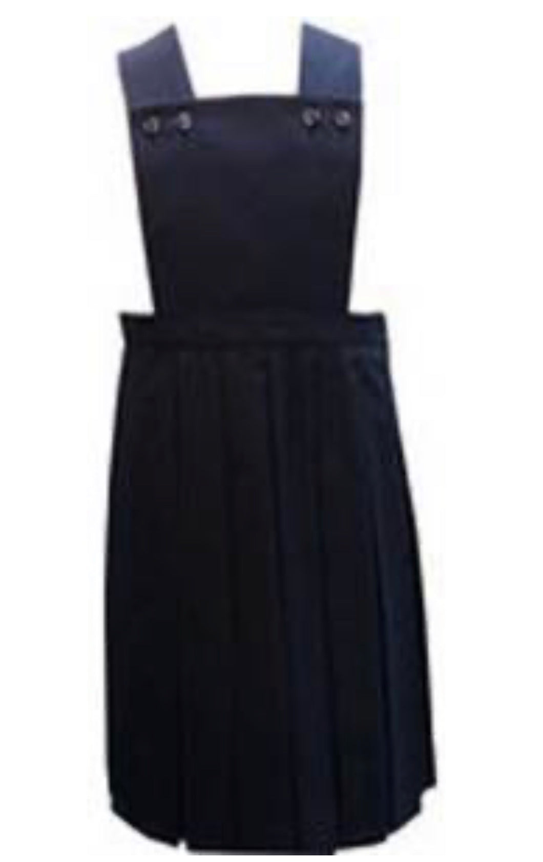 Navy Box Pleat Pinafore
