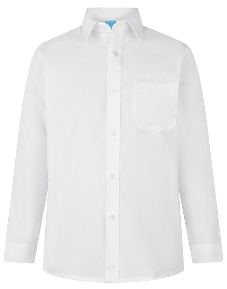 2 Pack Boys White Long Sleeve Shirt
