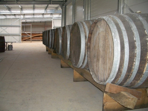 Barrels of Waitui Honey Malt Whiskey
