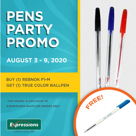 Rebnok Pens Party Promo from August 3-9, 2020
