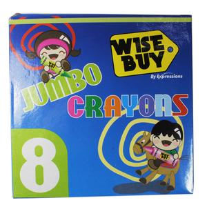 Wise Buy <br> Jumbo Crayons, <br> 8 Counts