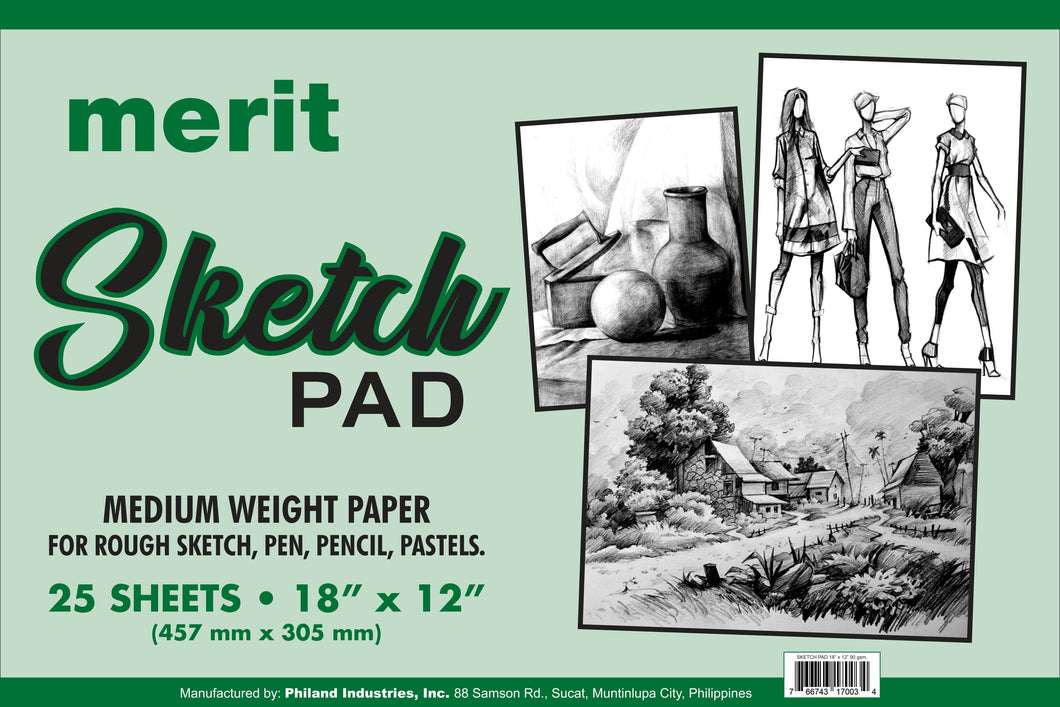 Merit <br> Sketch Pad, 18 x 12 inches <br> 25 Sheets