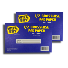 Load image into Gallery viewer, Wise Buy <br> Quiz Pad (1/2 Crosswise) <br> Pack of 2