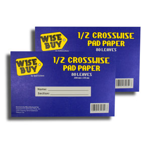 Wise Buy <br> Quiz Pad (1/2 Crosswise) <br> Pack of 2