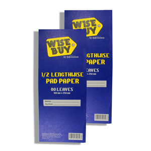 Wise Buy <br> Quiz Pad (1/2 Lengthwise) <br> Pack of 2