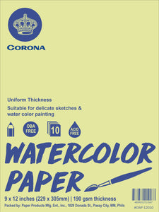 Corona <br> Water Color Paper 190 GSM <br> Pack of 10