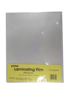 Laminating Film 222mmx286mm, <br> Pack of 10