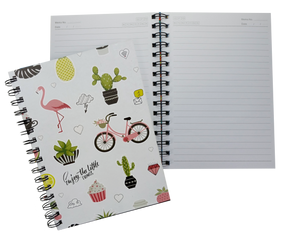 Fancy Spiral Journal Notebook with hard cover