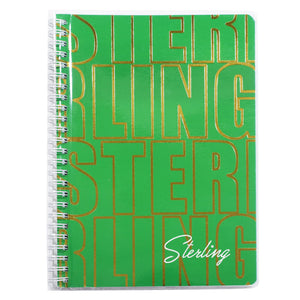 Sterling Spiral Notebook with Jacket - STERLING FONTS (6X8.5 inches 100 leaves)