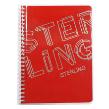 Load image into Gallery viewer, Sterling Spiral Notebook with Jacket - STERLING FONTS (6X8.5 inches 100 leaves)