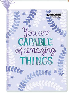 Orions <br> Yarn-bound Notebook, SMARTLINES <br> 5.8X7.8 inches 80 leaves