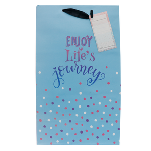 Sterling <br> Gift Bag, Everyday Life's Journey <br> 22.23 x 12.7 x 36.35 cm (Large), Portrait