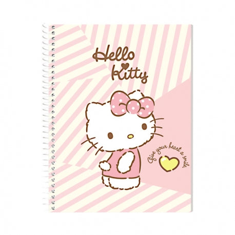 Orions <br> Spiral Notebook, HELLO KITTY <br> 5.8X7.8 inches 80 leaves