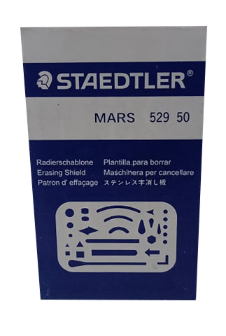 Staedtler <br> Stainless Erasing Shield <br> 3.5x 2.25 Inches