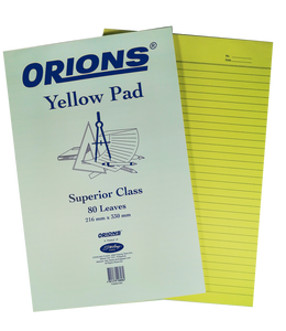 Orions <br> Yellow Pad 8.5 x 13 inches