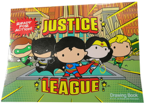 Sterling <br> Drawing Book - Justice League Cover <br>9 x 12 in, 20 sheets