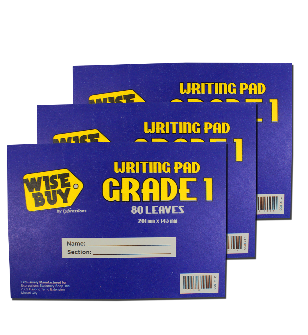Wise Buy <br> Grade Pad Paper <br> Pack of 3