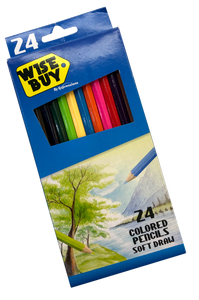 Wise Buy <br> Long Color Pencil, 24 Colors